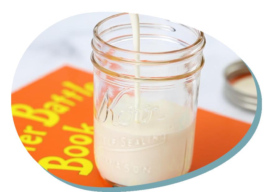 Homemade butter in a jar
