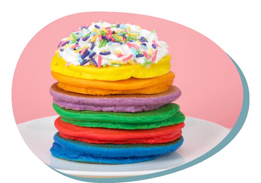 Colorful pancakes – natural pigments
