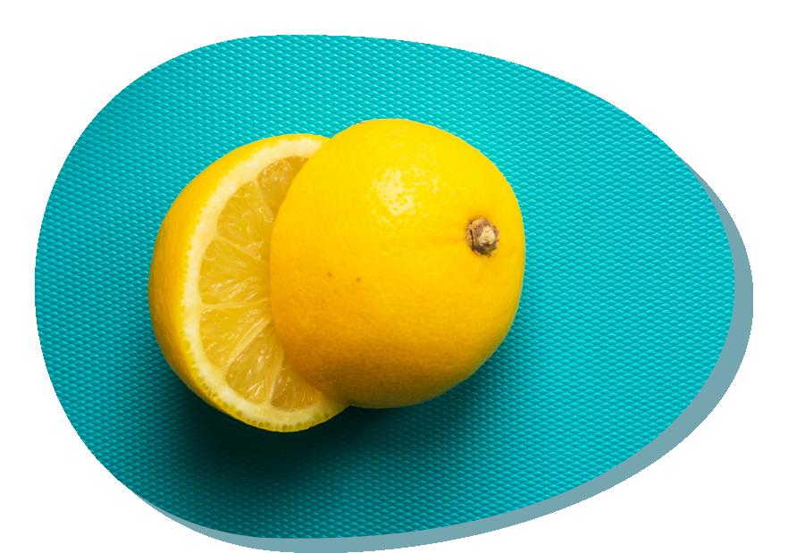 Un limone spumeggiante